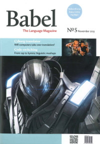 [cover of the November 2013 issue of Babel: The Language Magazine]